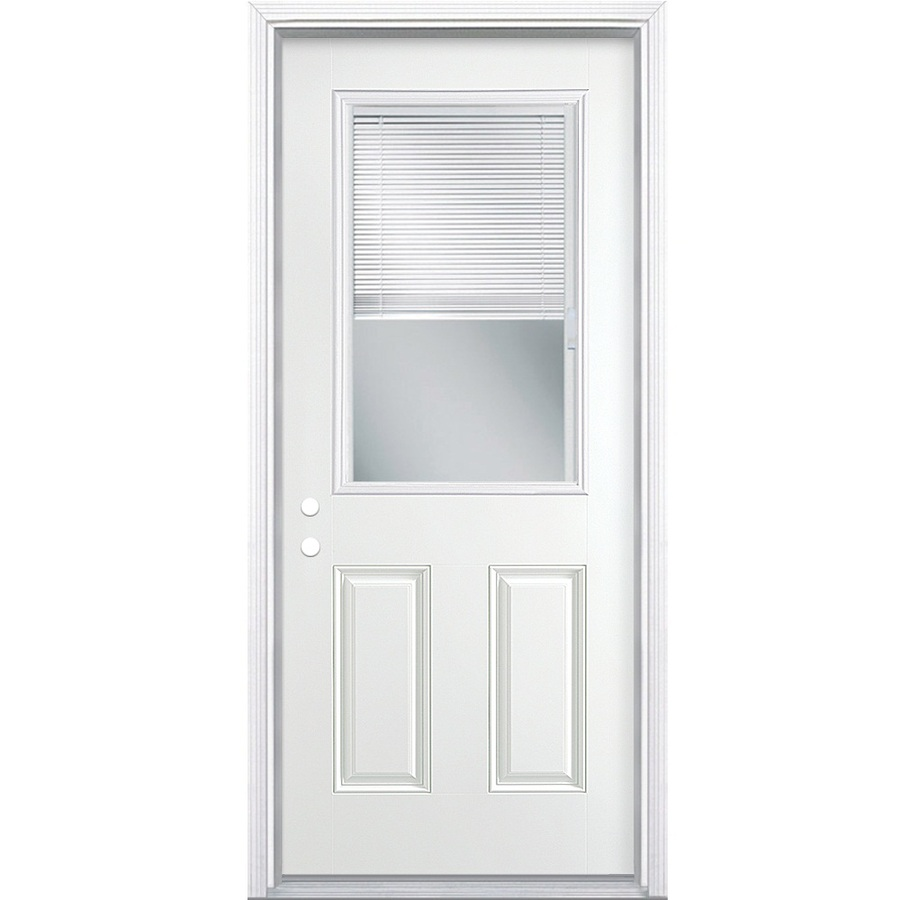 Shop reliabilt blinds between the glass half lite prehung for Half glass exterior door
