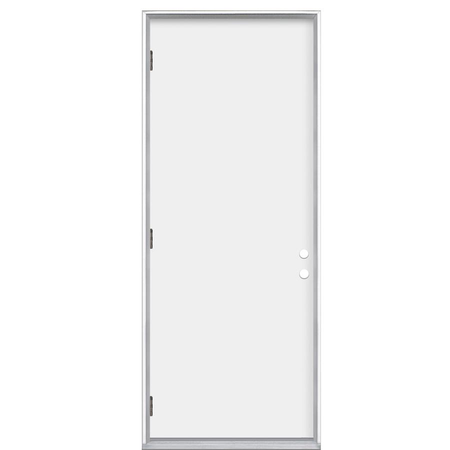 Shop Prosteel Flush Prehung Outswing Steel Entry Door Common 32 In X 80 In Actual 33 5 In X
