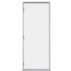 ProSteel Flush Insulating Core Right-Hand Outswing Primed Steel Prehung Entry Door (Common: 32-in x 80-in; Actual: 33.5-in x 80.375-in)