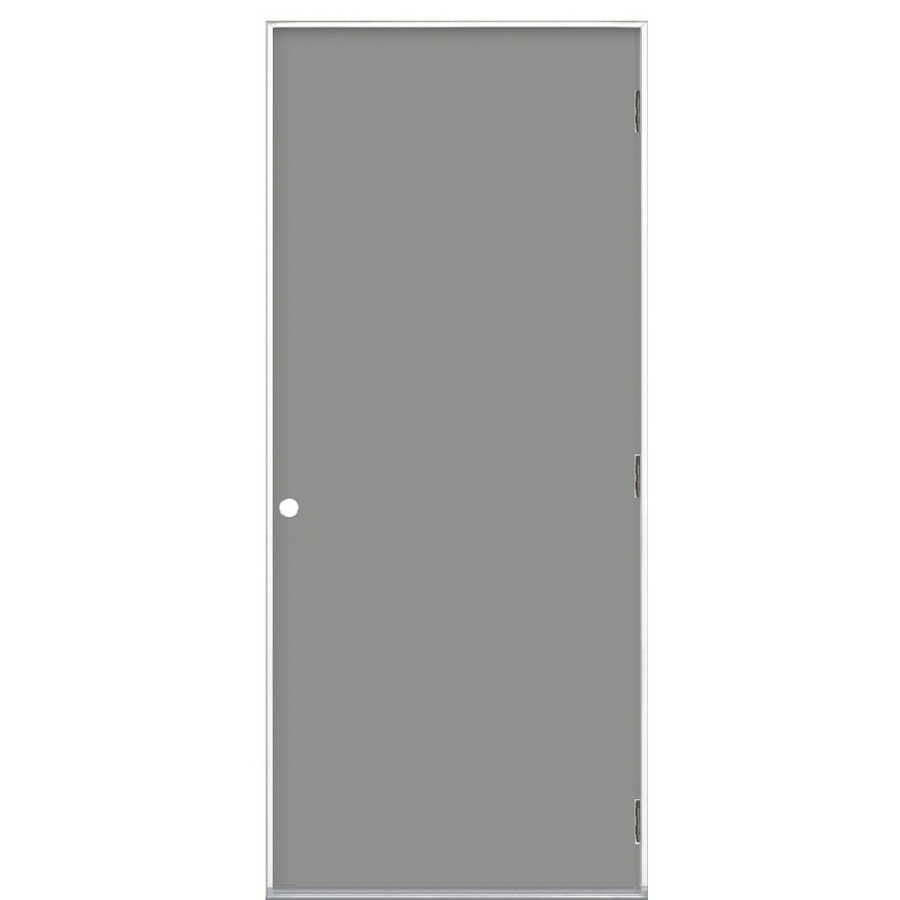 Shop Prosteel Flush Prehung Outswing Steel Entry Door Common 32 In X 80 In Actual X