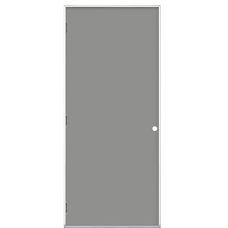 Shop ProSteel Flush Prehung Outswing Steel Entry Door Common 36 In X 80 In