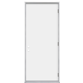 Shop Prosteel Flush Insulating Core Left Hand Outswing Primed Steel Prehung Entry Door Common