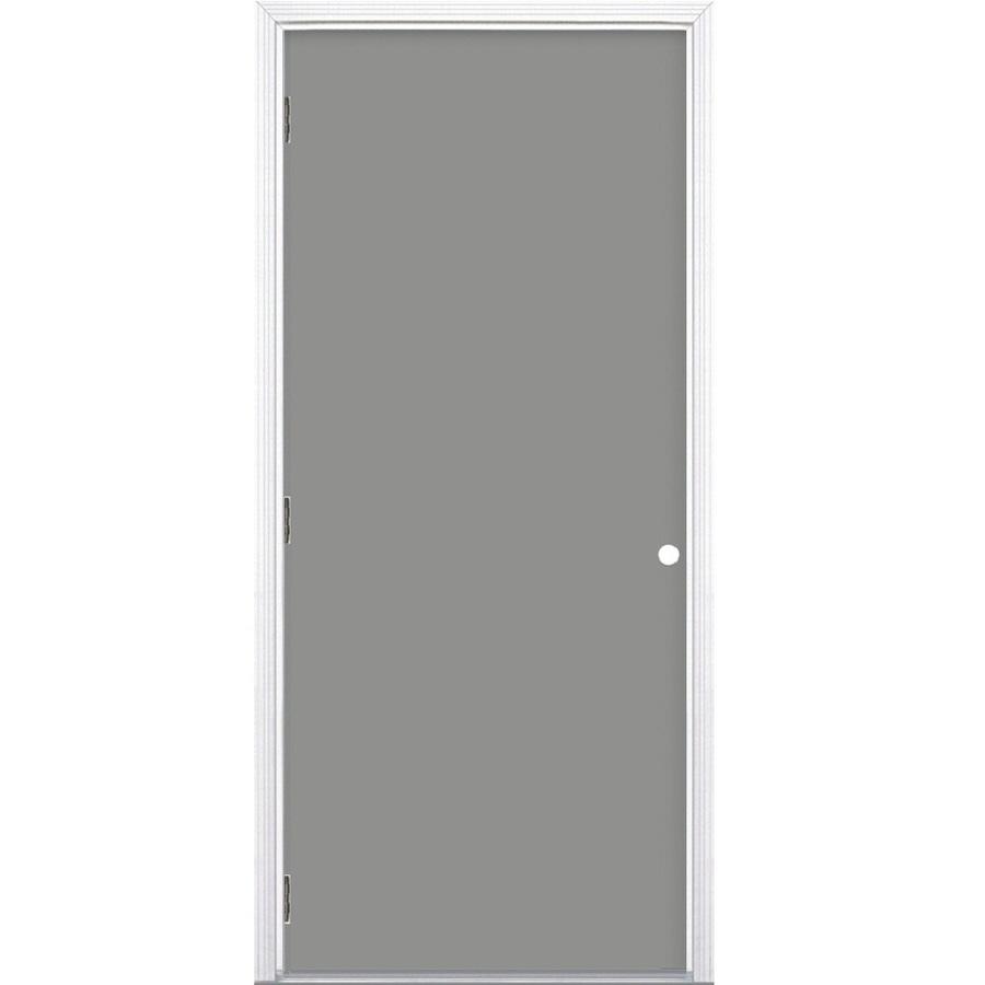 Shop ProSteel 6 Panel Prehung Outswing Steel Entry Door Common 32 In X 80 I