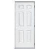 ProSteel 36-in x 80-in Fire Resistant 6-Panel Outswing Steel Entry Door