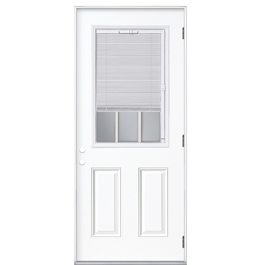 Exterior Door With Blinds Between Glass Blinds Between Glass Reliabilt Reliabilt 2 Panel Mini