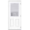 ReliaBilt 32-in x 80-in Half Lite Outswing Steel Entry Door