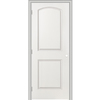 ReliaBilt 24-in x 80-in 2-Panel Round Top Hollow Molded Composite Right-Hand Interior Single Prehung Door