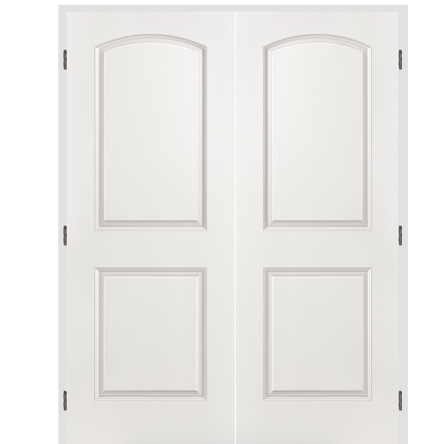 Shop Reliabilt 2 Panel Round Top Hollow Core Smooth Molded Composite Reversible Interior French