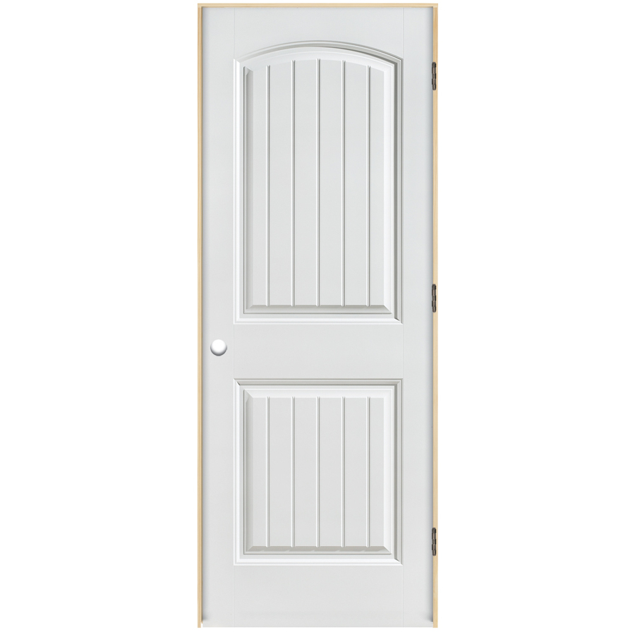 Shop reliabilt 2 panel round top plank hollow core smooth for 18 door