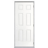 ReliaBilt 6-Panel Insulating Core Left-Hand Outswing Primed Fiberglass Prehung Entry Door (Common: 32-in x 80-in; Actual: 33.5-in x 80.375-in)