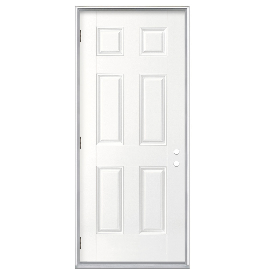 Shop ReliaBilt None Prehung Outswing Fiberglass Entry Door Common 32 In X 8