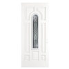 ReliaBilt 36-in Center Arch Lite Decorative Outswing Fiberglass Entry Door