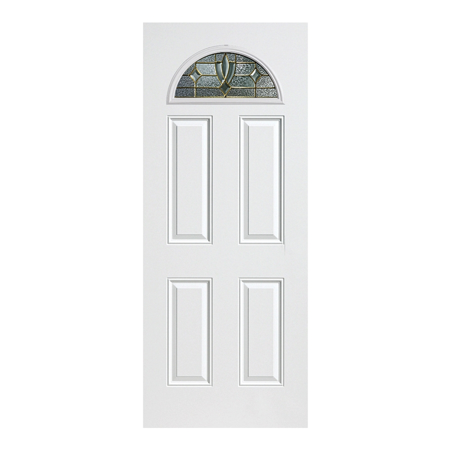 Shop reliabilt decorative prehung outswing fiberglass entry door common 36 in x 80 in actual for Lowes fiberglass exterior doors
