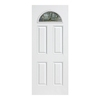 ReliaBilt 37-3/8-in Decorative Outswing Fiberglass Entry Door