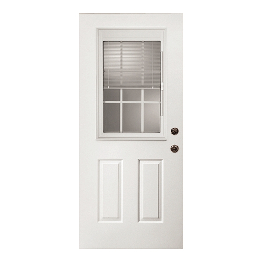 Shop ReliaBilt Clear Prehung Outswing Fiberglass Entry Door Common 32 In X