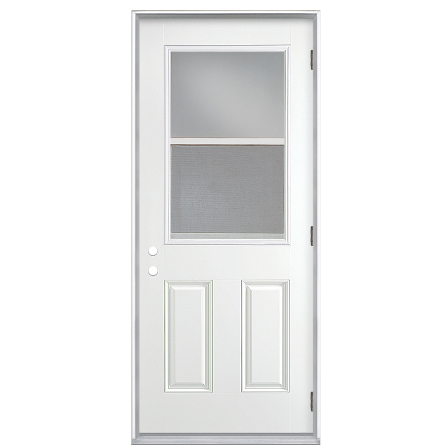 Shop reliabilt clear prehung outswing fiberglass entry for Prehung exterior door