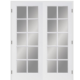Lowes Interior Doors on Full Lite Solid Wood Universal Interior French Door At Lowes Com
