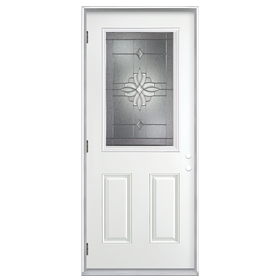 ReliaBilt 37.3-in Half Lite Decorative Outswing Entry Door