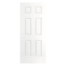 ReliaBilt 6-Panel Insulating Core Right-Hand Inswing Primed Fiberglass Prehung Entry Door (Common: 32-in x 80-in; Actual: 33.5-in x 81.5-in)