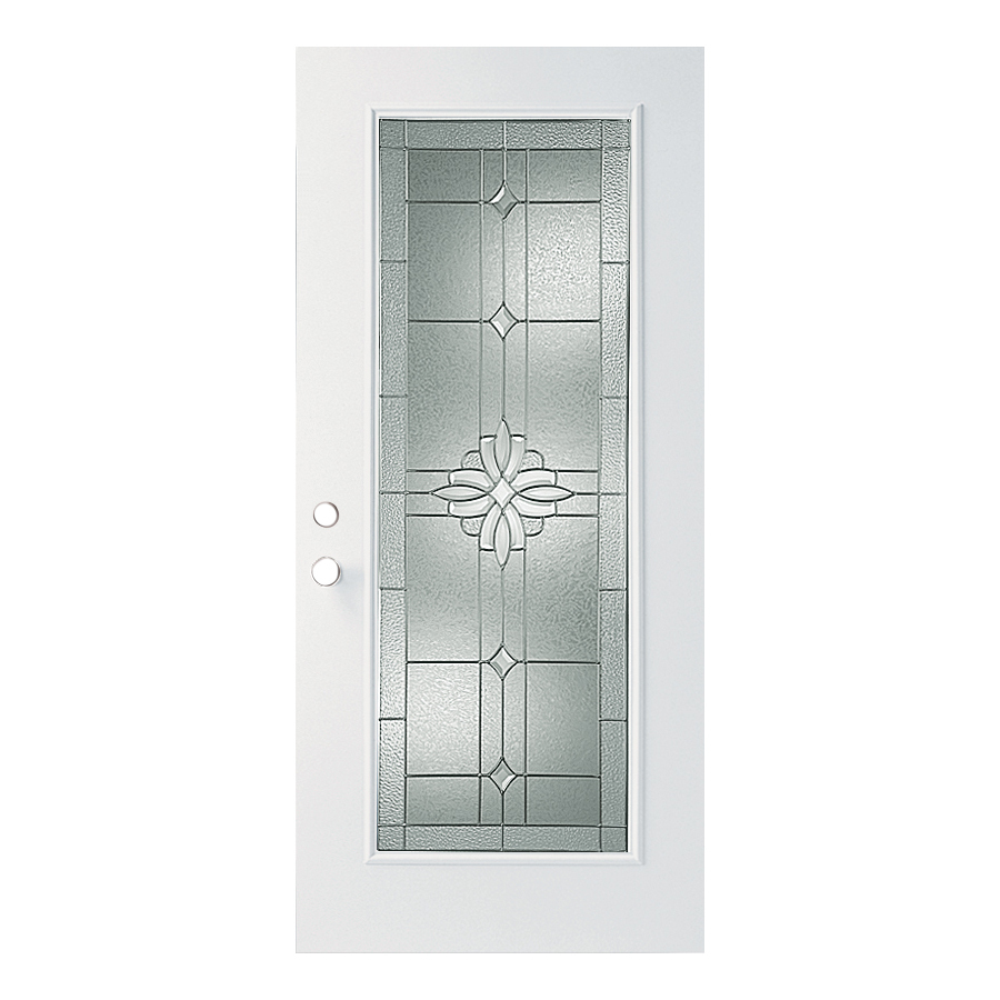 Shop Reliabilt Decorative Prehung Outswing Fiberglass Entry Door Common 36 In X 80 In Actual