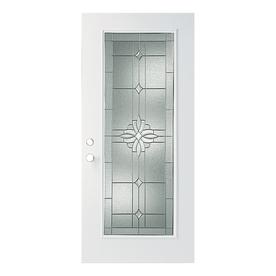ReliaBilt Laurel Flush Insulating Core Full Lite Left-Hand Outswing Primed Fiberglass Prehung Entry Door (Common: 36-in x 80-in; Actual: 37.5-in x 80.375-in)