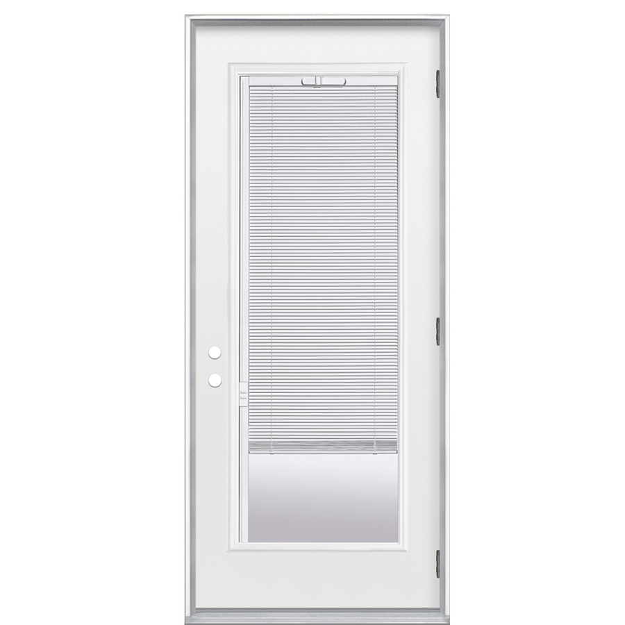Shop reliabilt 36 w commodity full lite blinds between the for Lowes french doors with blinds