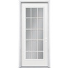 ReliaBilt 32-in x 80-in Full Lite Inswing Steel Entry Door