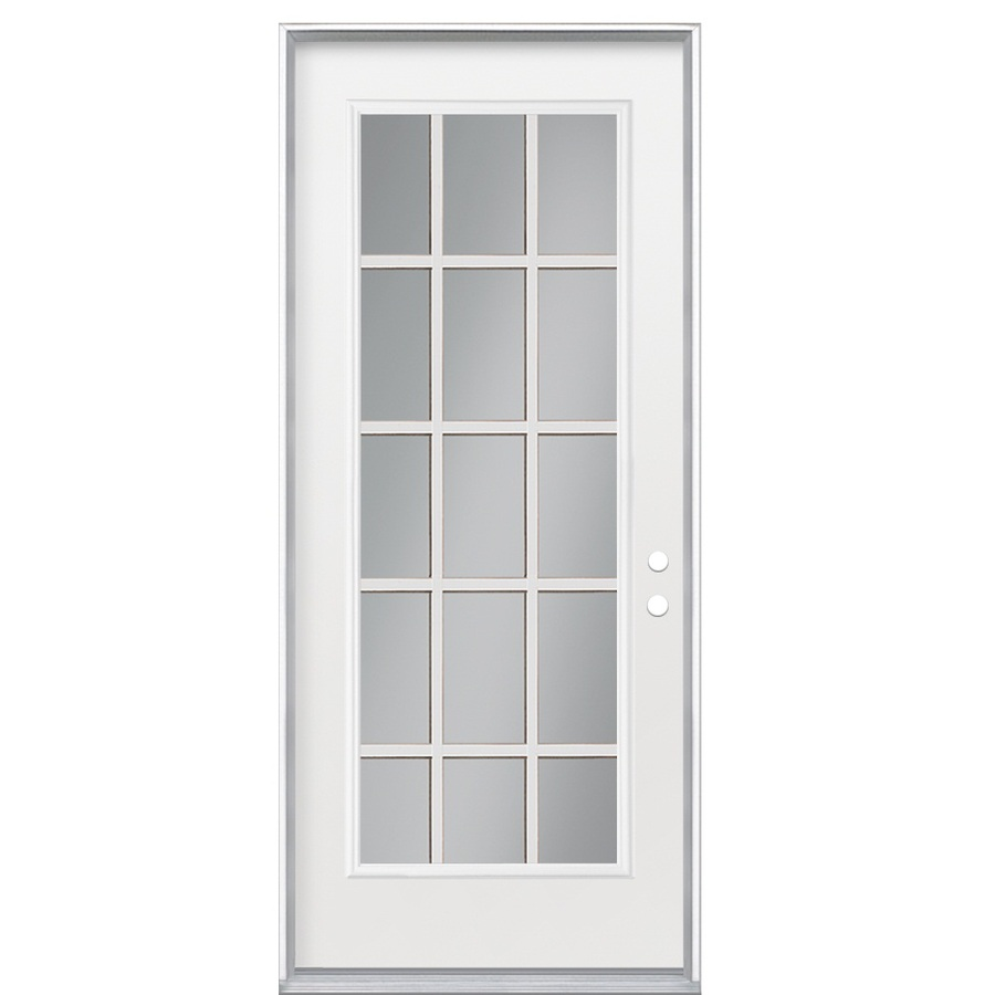 shop reliabilt 15 lite prehung inswing steel entry door