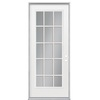 ReliaBilt 36-in x 80-in Full Lite Prehung Inswing Steel Entry Door