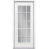 ReliaBilt 36-in x 80-in Full Lite Inswing Steel Entry Door