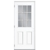 ReliaBilt 32-in Half Lite Clear Outswing Entry Door