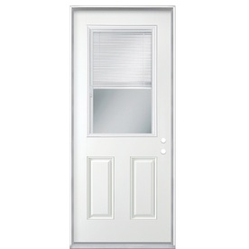 ReliaBilt 32-in x 80-in Half Lite Inswing Steel Entry Door