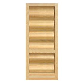 Shop reliabilt solid core full louver pine slab interior for Prehung louvered interior doors
