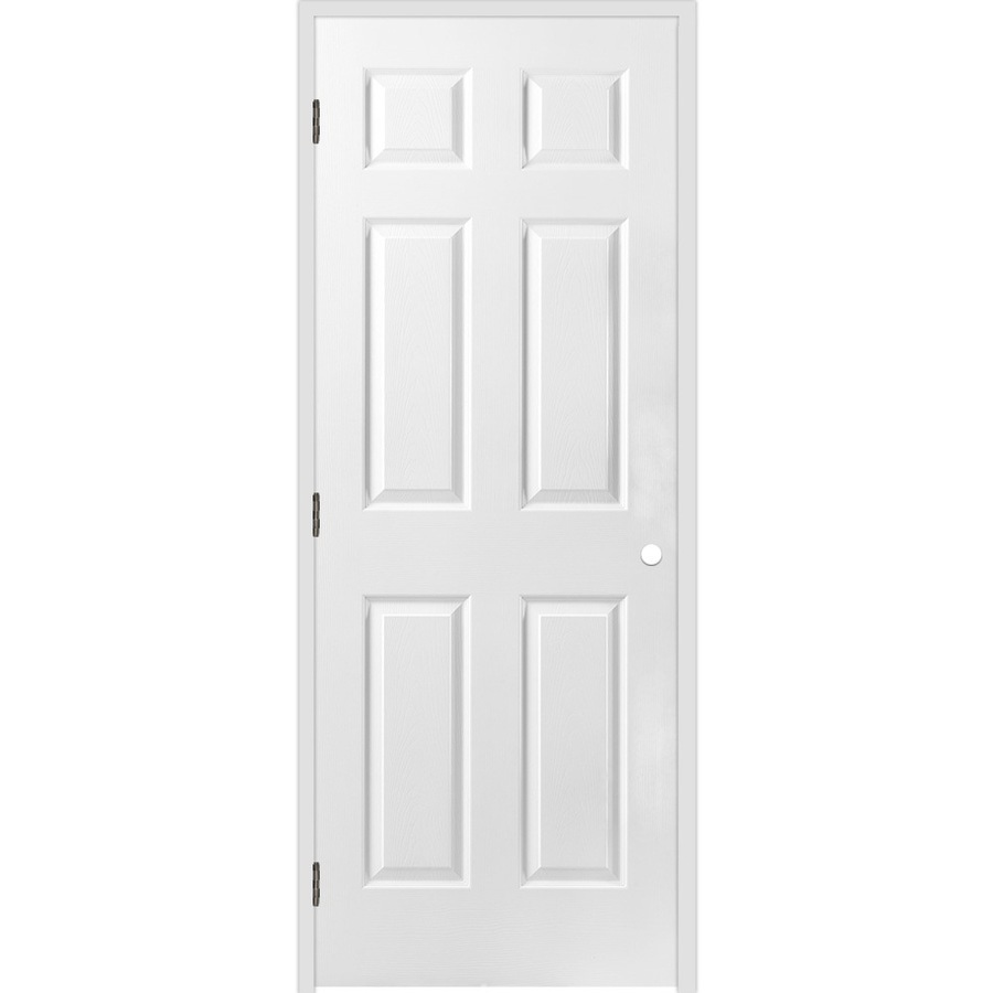 Shop reliabilt 6 panel hollow textured molded composite - Double prehung interior doors 6 panel ...