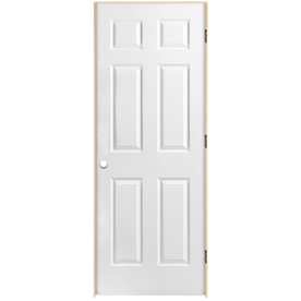 Shop Reliabilt 6 Panel Hollow Core Textured Molded Composite Left Hand Interior Single Prehung
