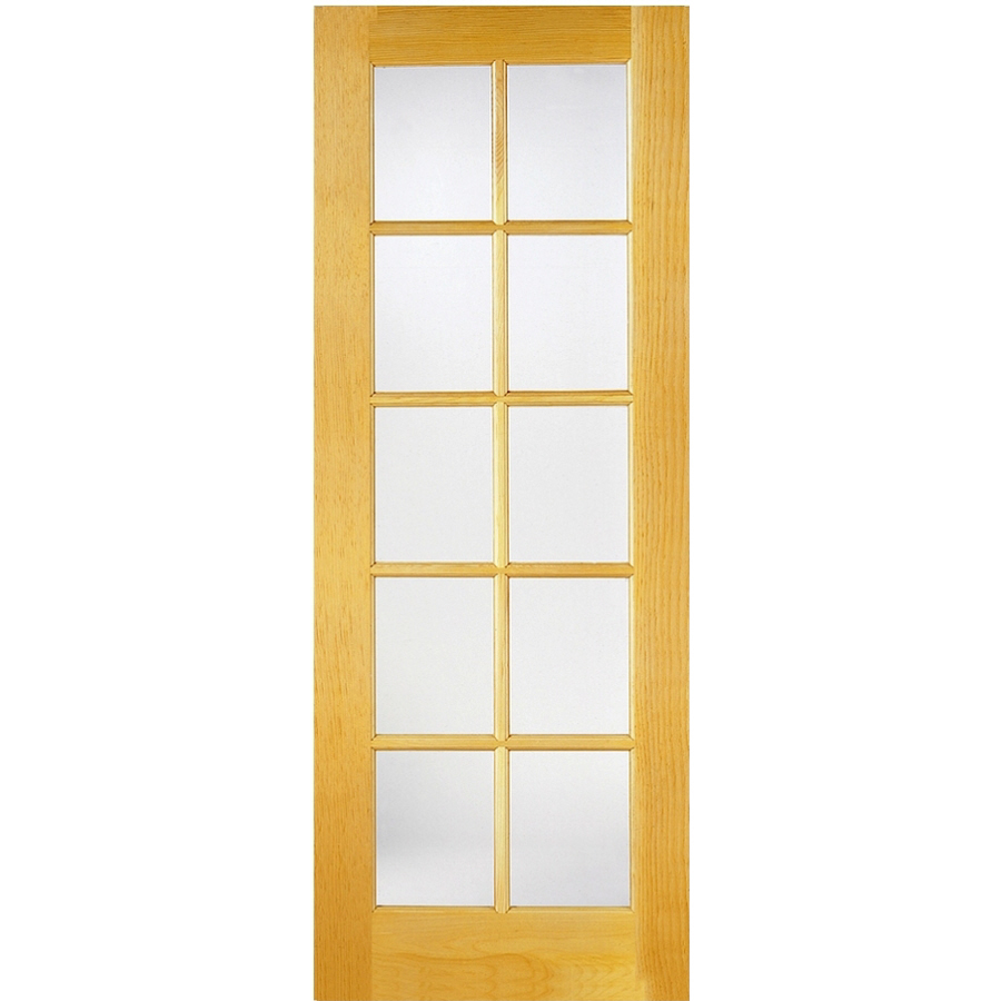 Shop Reliabilt 10 Lite French Solid Core Non Bored Clear Glass Interior Slab Door Common 24 In