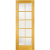 ReliaBilt 24-in x 80-in 10-Lite French Pine Solid Core Non-Bored Interior Slab Door