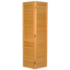 ReliaBilt 30-in x 80-in Louvered Solid Core Pine Interior Bifold Closet Door