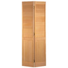 ReliaBilt 30-in x 80-in Louver/Panel Solid Core Pine Interior Bifold Closet Door