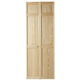 Shop reliabilt 36 in x 79 in 6 panel solid wood core interior bifold closet door at 6 panel hardwood interior doors