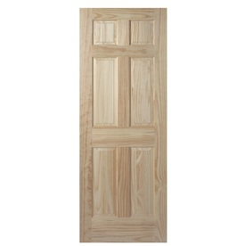 Interior Doors Wood - Solid Mahogany 6 Panel Doors