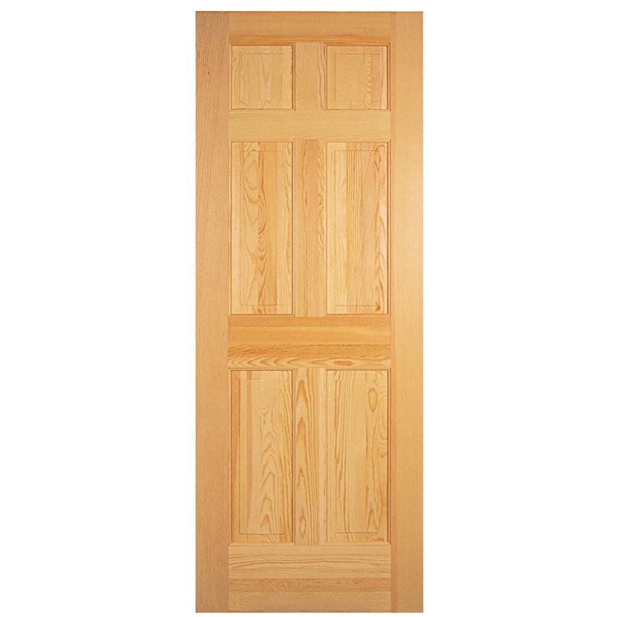 Shop reliabilt 6 panel solid core non bored interior slab for Solid interior doors