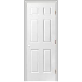 ReliaBilt Prehung Hollow Core 6-Panel Interior Door (Common: 36-in x 78-in; Actual: 37.5-in x 79.5-in)