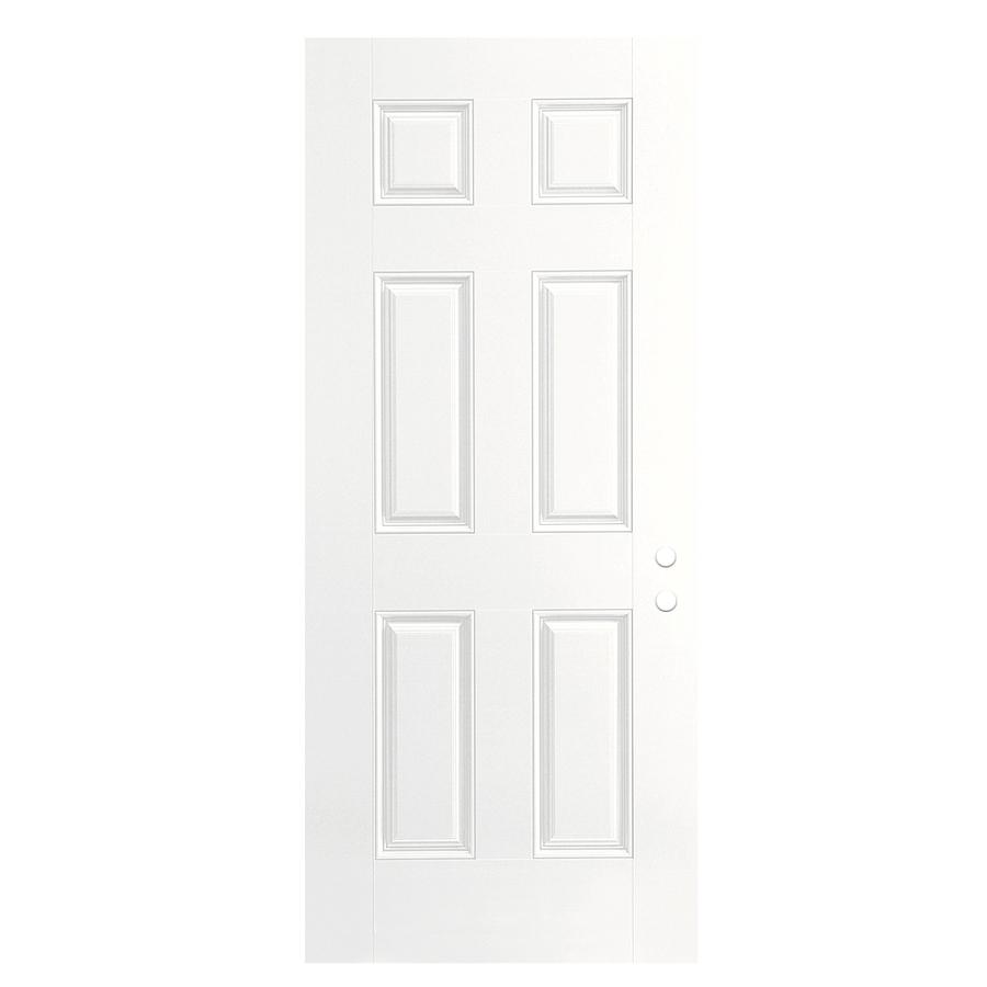 Shop Reliabilt 6 Panel None Prehung Outswing Fiberglass Entry Door Common 30 In X 80 In