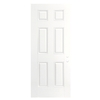 ReliaBilt 6-Panel Insulating Core Right-Hand Outswing Primed Fiberglass Prehung Entry Door (Common: 30-in x 80-in; Actual: 31.5-in x 80.375-in)