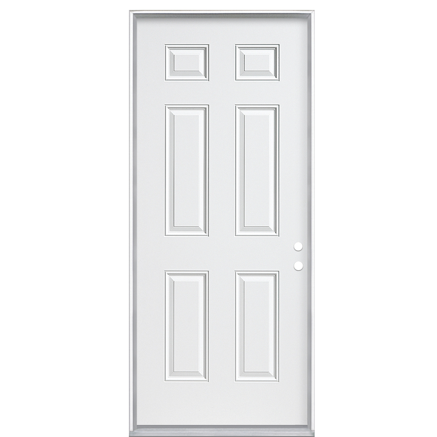 Shop reliabilt fire resistant 6 panel prehung inswing for Steel home entry doors
