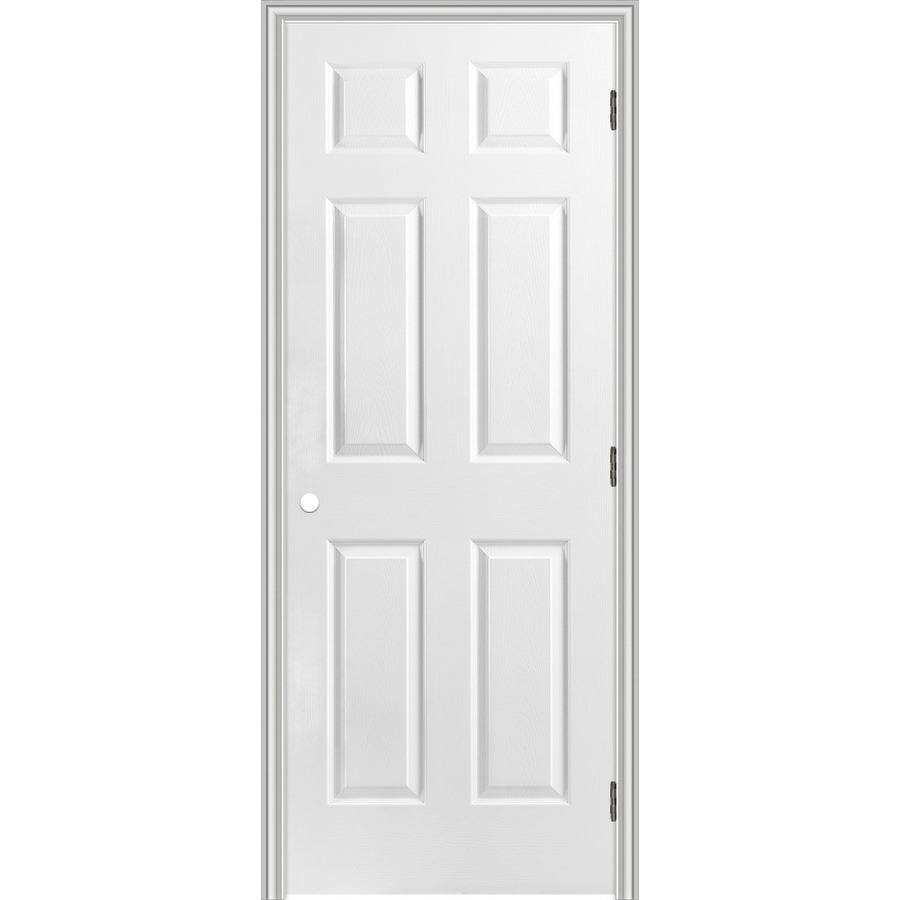 Shop reliabilt 6 panel hollow core textured molded for Prehung interior doors