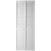 ReliaBilt 24-in x 79-in Louver/Panel Solid Core Pine Interior Bifold Closet Door