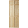 ReliaBilt 30-in x 79-in 6-Panel Solid Core Pine Interior Bifold Closet Door