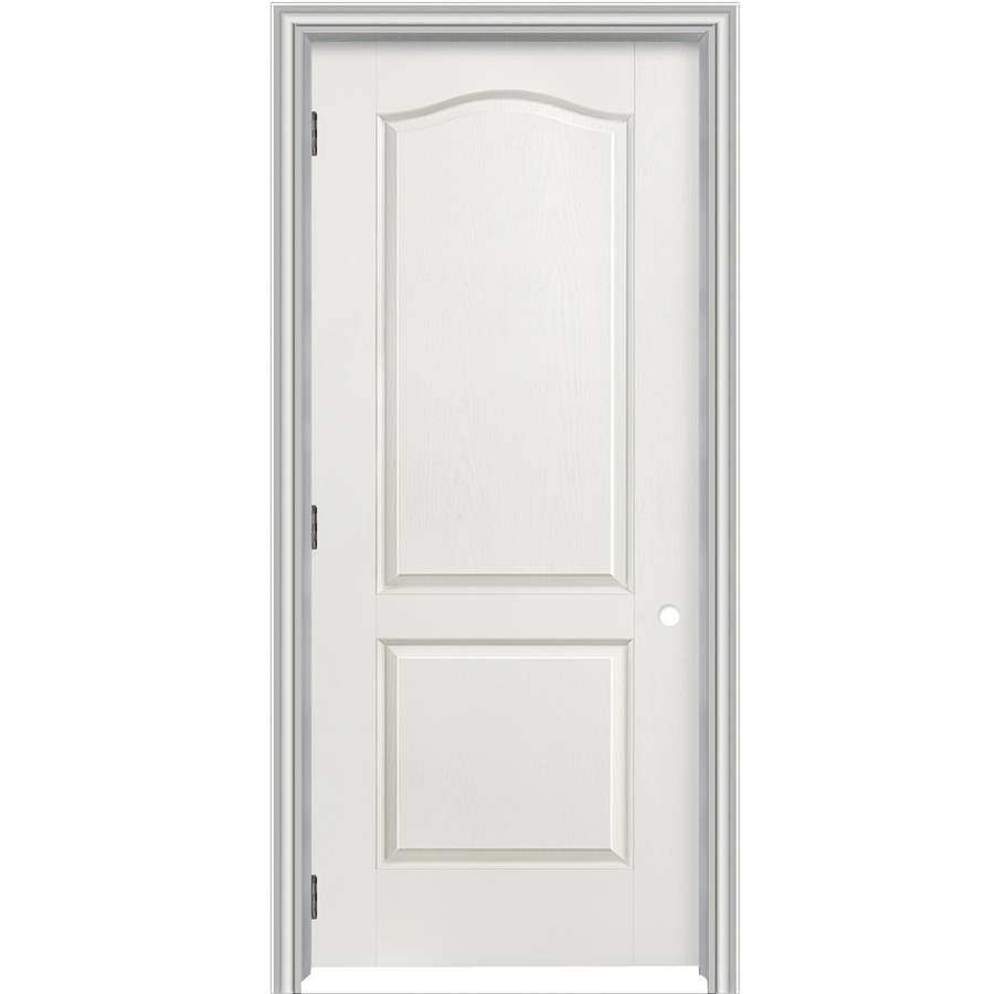 Shop reliabilt 2 panel arch top hollow core textured for Prehung interior doors